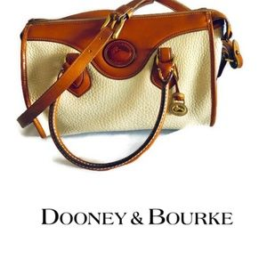 Vintage Dooney & Bourke AWL Cream Pebble Leather